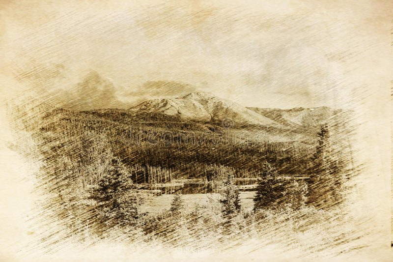 Paesaggi dell'Alaska illustrazione vettoriale