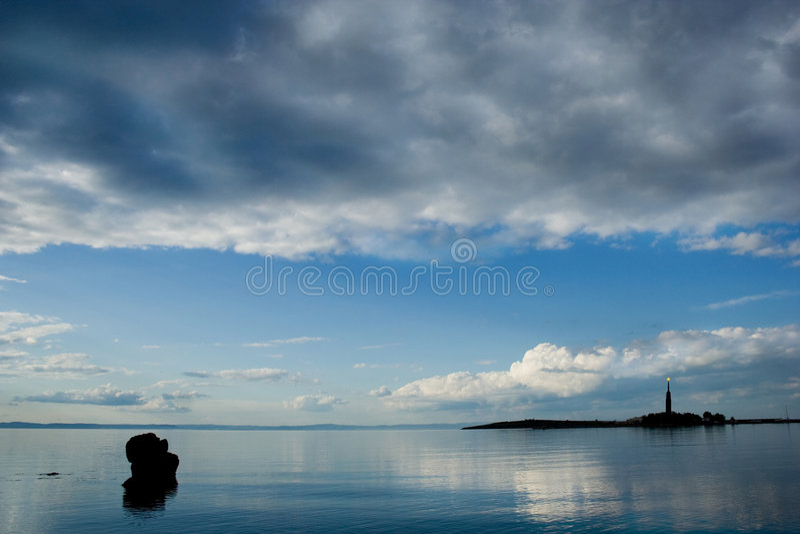 Paesaggi dell'oceano della foto series1-The. fotografie stock