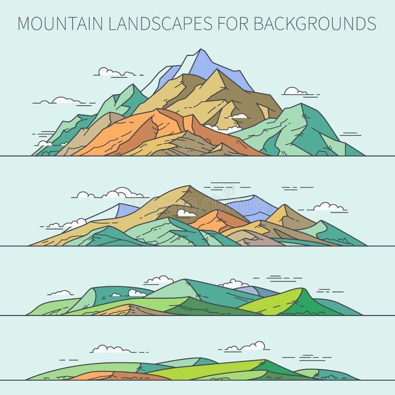 Paesaggi della montagna per gli ambiti di provenienza fotografie stock