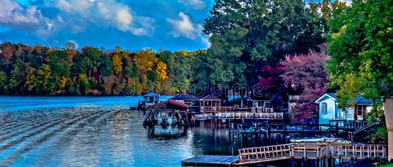 Paesaggi della natura intorno al wylie Carolina del Sud del lago immagini stock