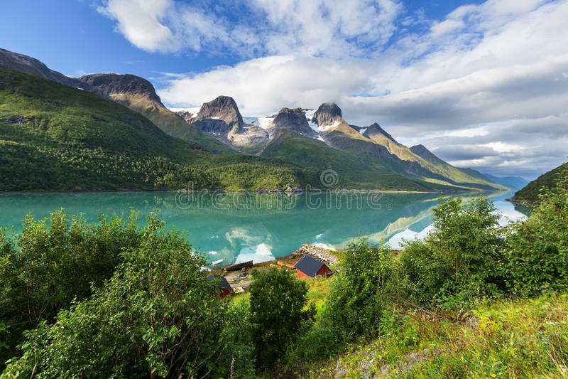 Paesaggi della Norvegia fotografia stock libera da diritti