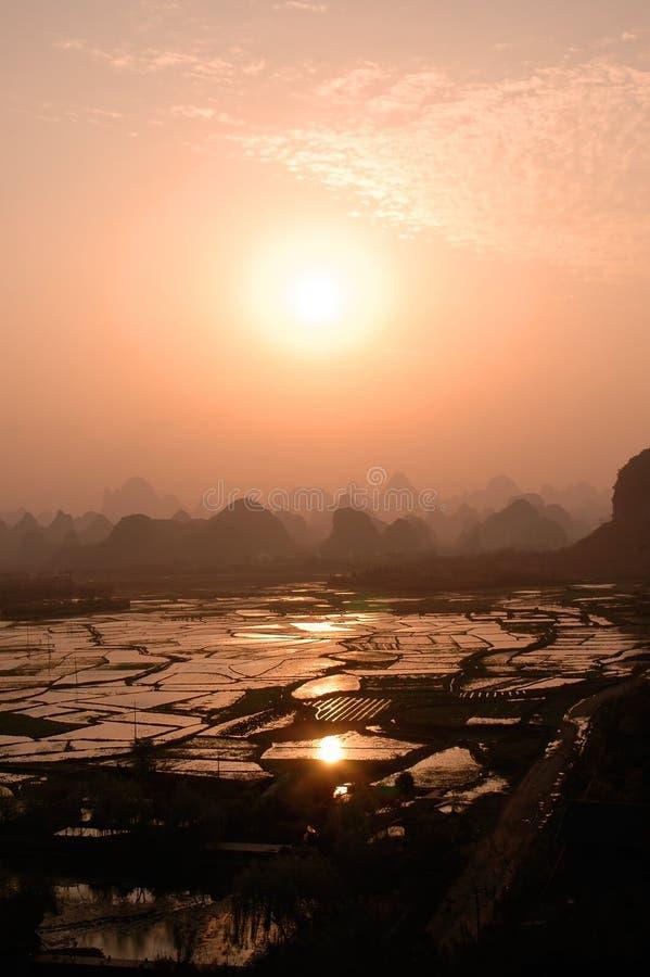 Paesaggi di Guilin fotografia stock libera da diritti