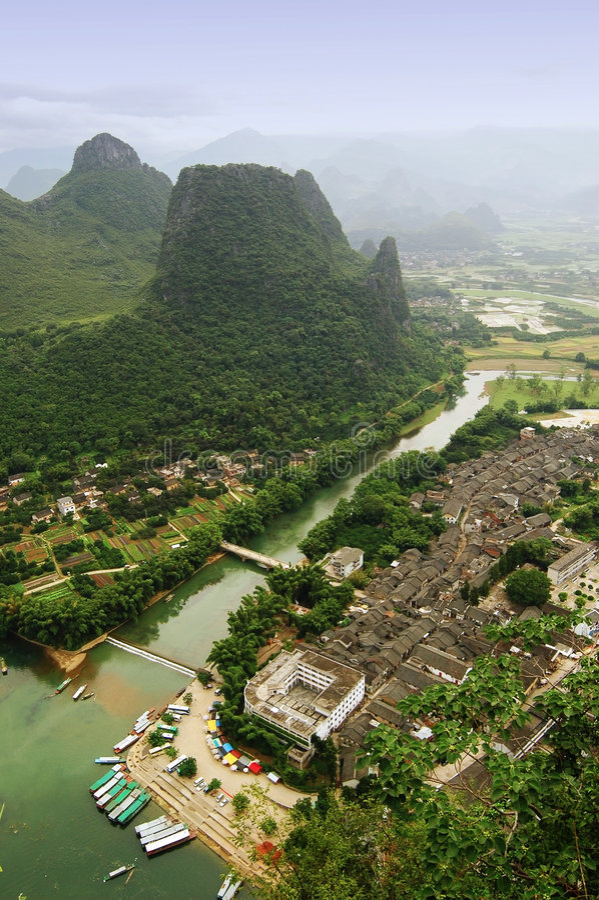 Paesaggi di Guilin fotografie stock
