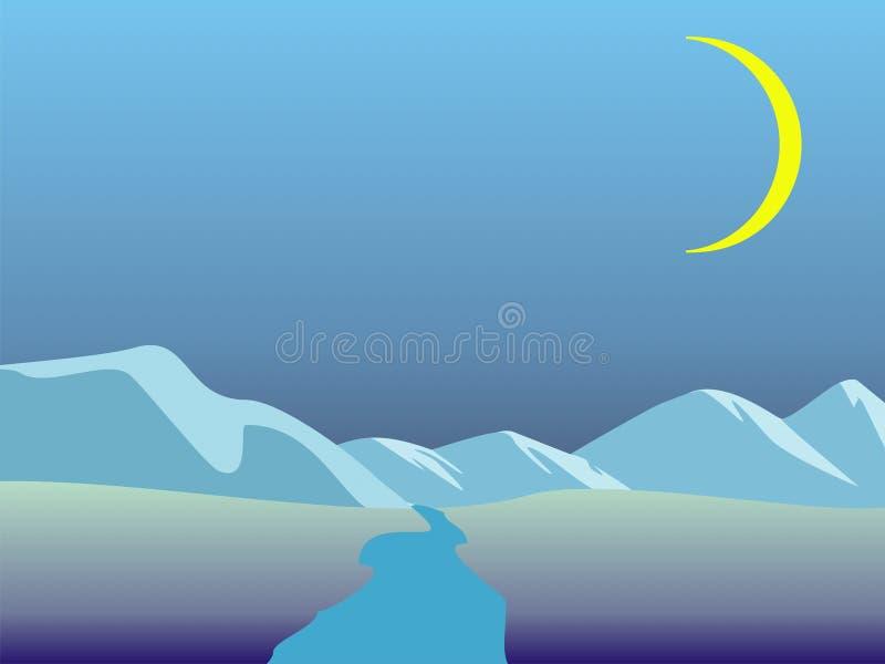 Paesaggi di inverno illustrazione vettoriale