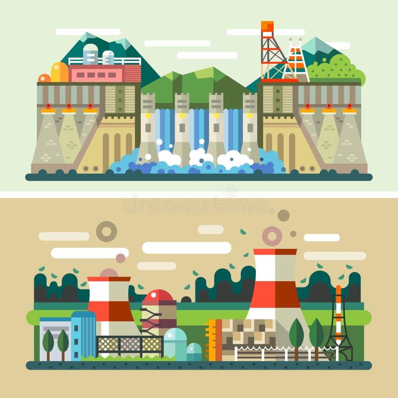 Paesaggi industriali royalty illustrazione gratis
