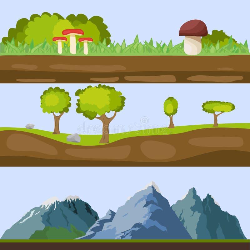 Paesaggi naturali illustrazione di stock