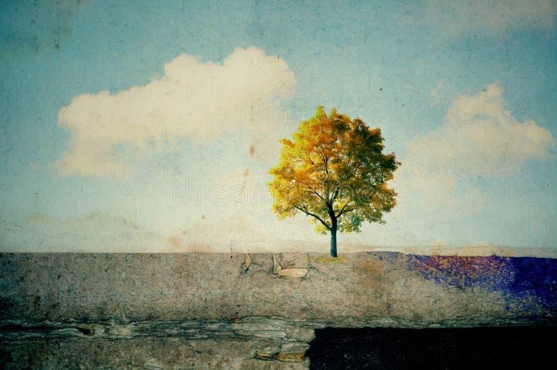 Paesaggi surreali illustrazione di stock