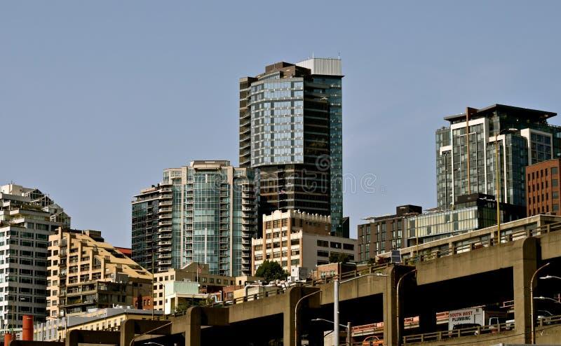 Paesaggi urbani di Seattle fotografia stock