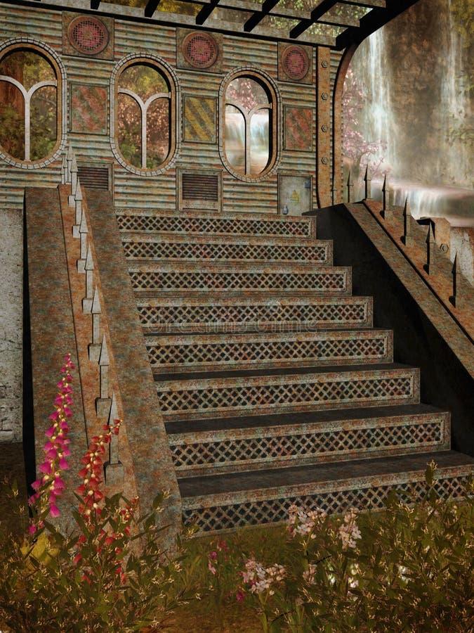 Paesaggio 104 di fantasia royalty illustrazione gratis