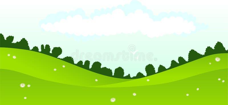 Paesaggio illustrazione di stock