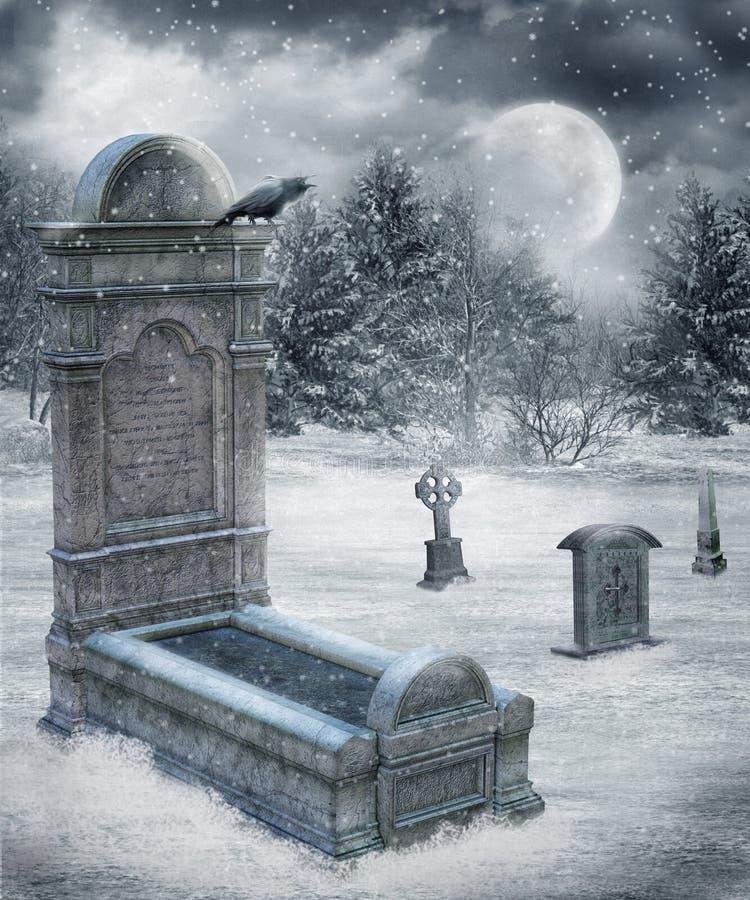 Paesaggio 16 di inverno illustrazione vettoriale