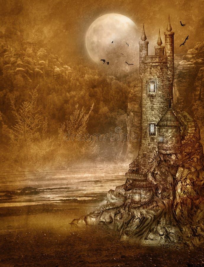 Paesaggio 25 di fantasia illustrazione vettoriale