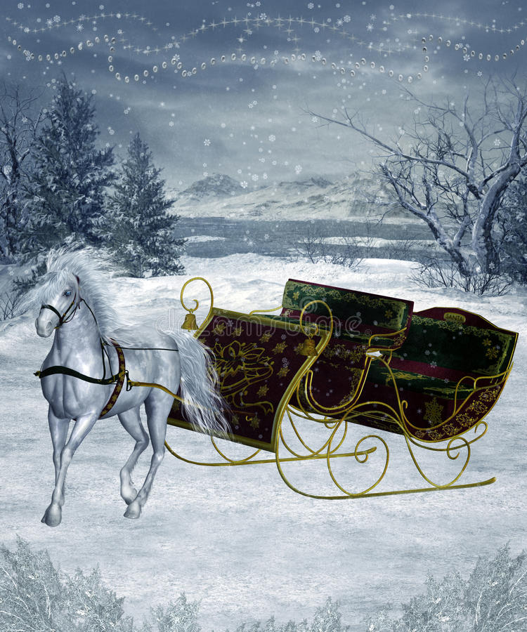 Paesaggio 26 di inverno illustrazione di stock