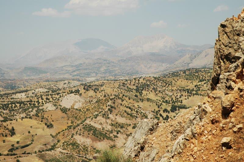 Paesaggio abbandonato nel Kurdistan, Turchia orientale immagine stock
