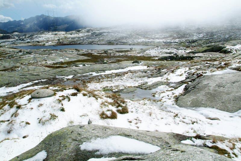 Paesaggio al supporto Gotthard fotografie stock libere da diritti