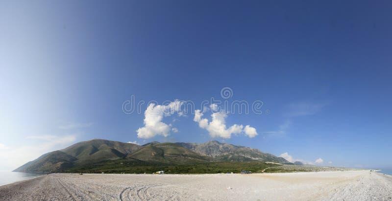 Paesaggio albanese del litorale fotografie stock libere da diritti