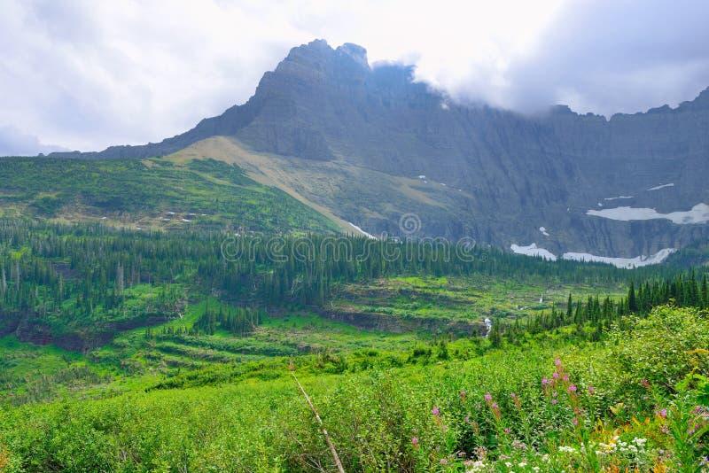 Download Paesaggio Alpino Del Glacier National Park Fotografia Stock - Immagine di fagotto, partenza: 55357886