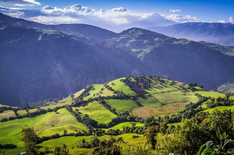 Paesaggio andino vicino a Riobamba, Ecuador immagini stock libere da diritti