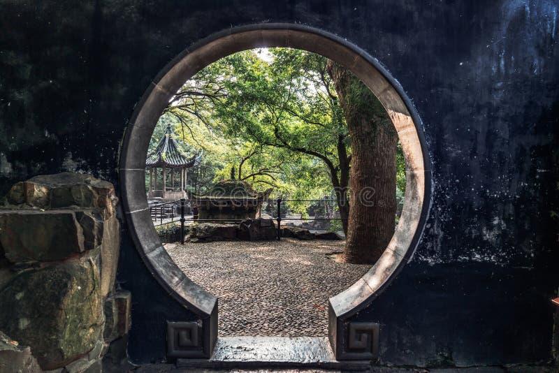 Paesaggio antico della costruzione del giardino di Suzhou fotografie stock