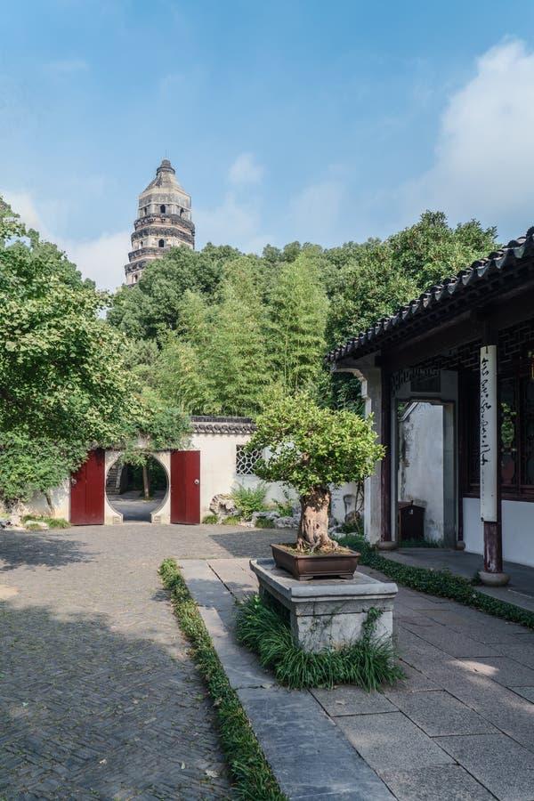 Paesaggio antico della costruzione del giardino di Suzhou immagine stock libera da diritti