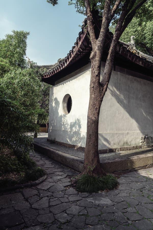 Paesaggio antico della costruzione del giardino di Suzhou fotografia stock