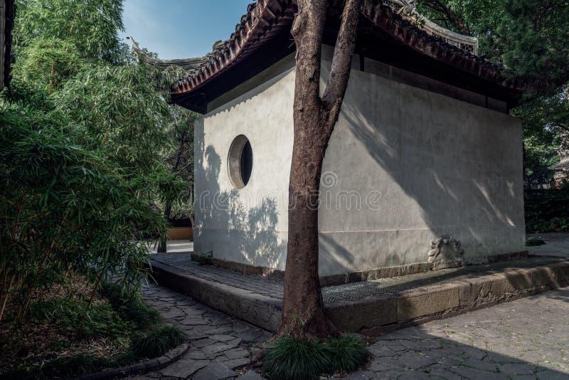 Paesaggio antico della costruzione del giardino di Suzhou fotografia stock libera da diritti
