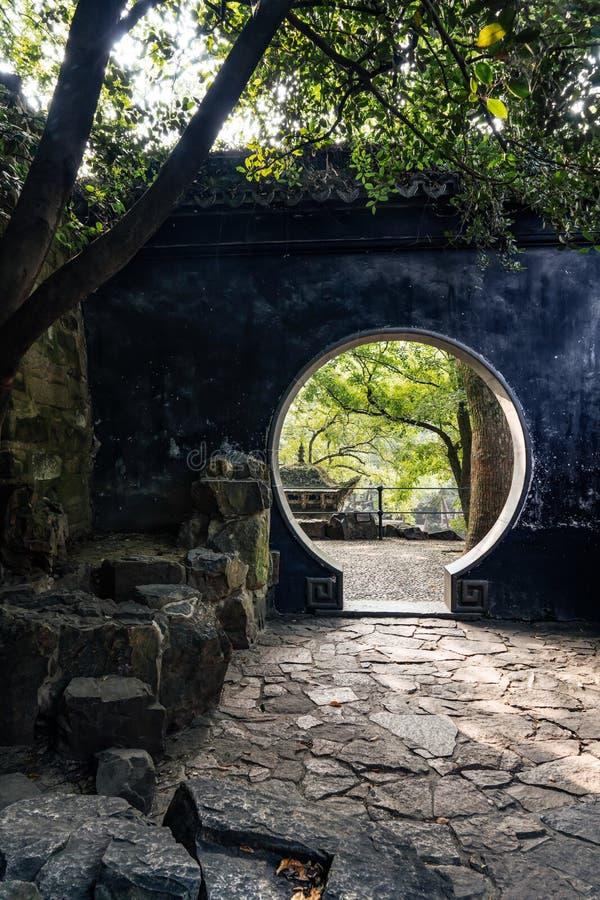 Paesaggio antico della costruzione del giardino di Suzhou immagine stock
