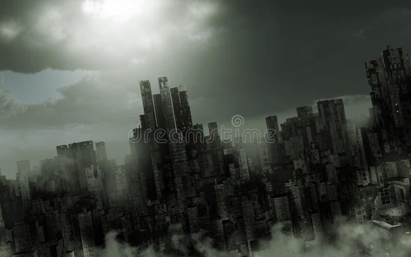 Paesaggio apocalittico triste