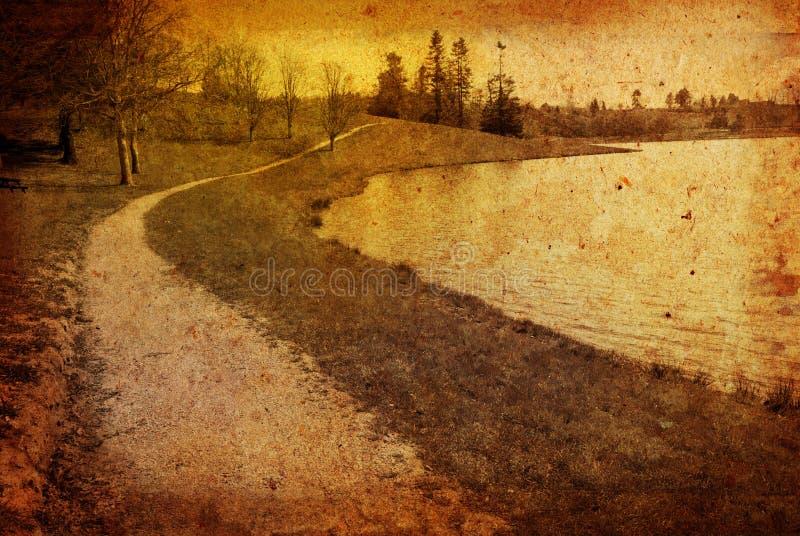 Paesaggio artistico antiquato fotografia stock libera da diritti