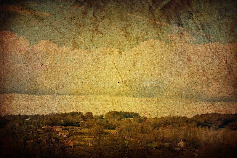 Paesaggio artistico antiquato immagini stock