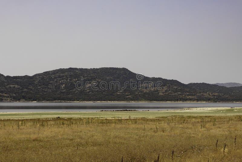 Paesaggio asciutto con il fiume 2 immagini stock libere da diritti