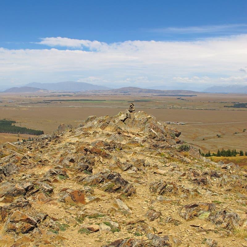 Paesaggio asciutto della Nuova Zelanda immagine stock libera da diritti