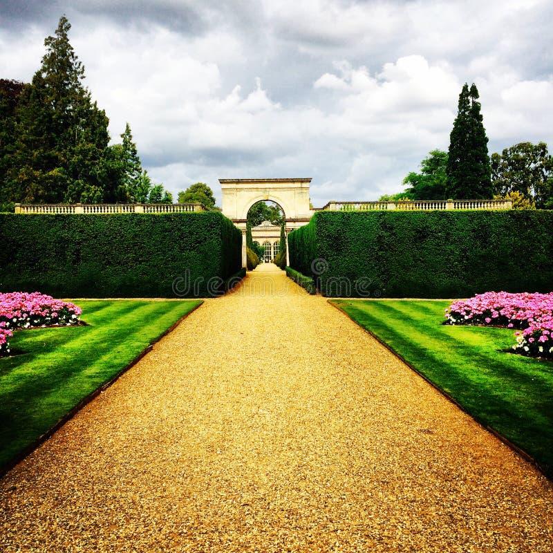 Paesaggio ashby dei giardini del castello fotografia stock libera da diritti
