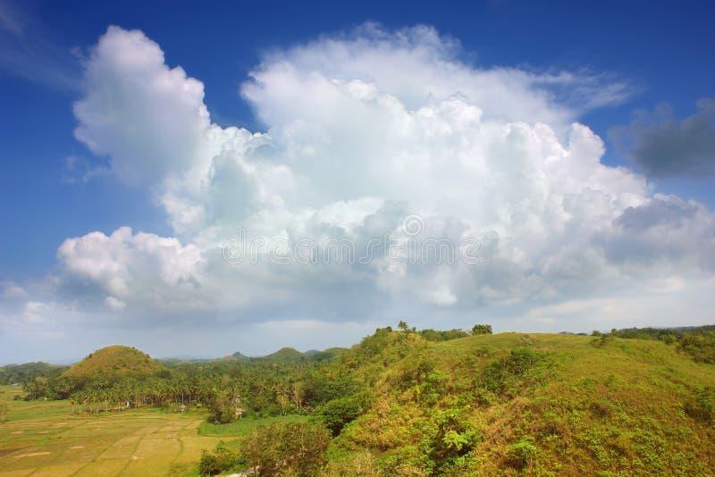 Paesaggio asiatico con cloudscape immagini stock libere da diritti
