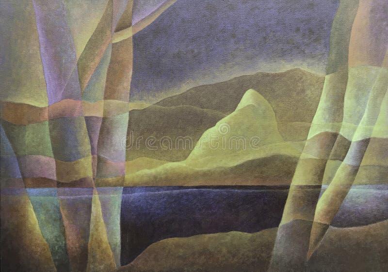 Paesaggio astratto 68, arte digitale da Afonso Farias & Denilson Bedin fotografie stock