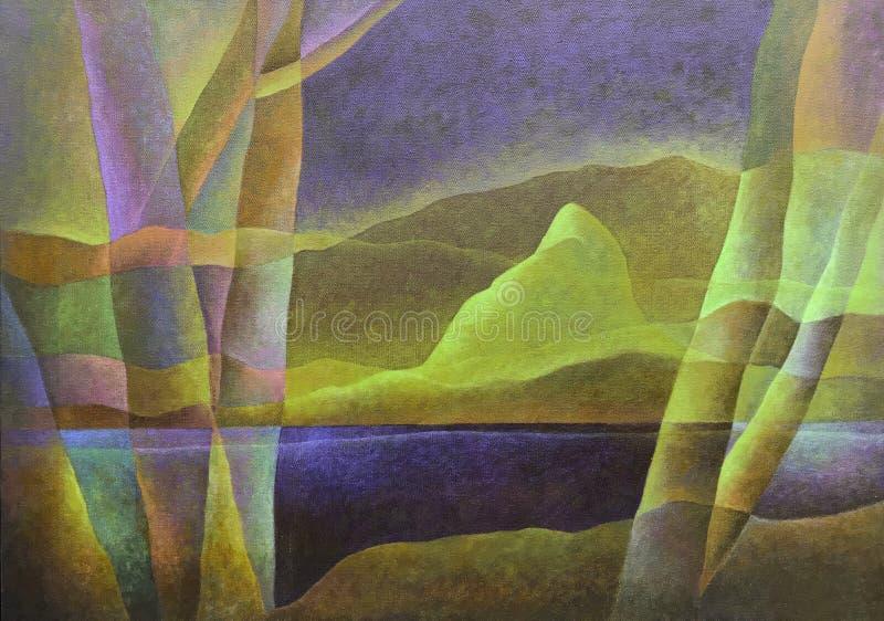 Paesaggio astratto 61, arte digitale da Afonso Farias & Denilson Bedin fotografia stock libera da diritti