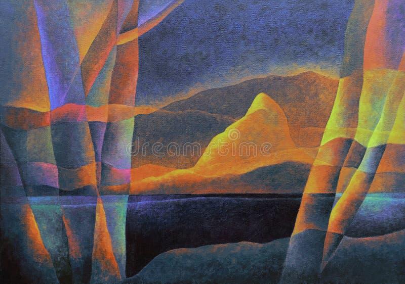 Paesaggio astratto 62, arte digitale da Afonso Farias & Denilson Bedin fotografia stock