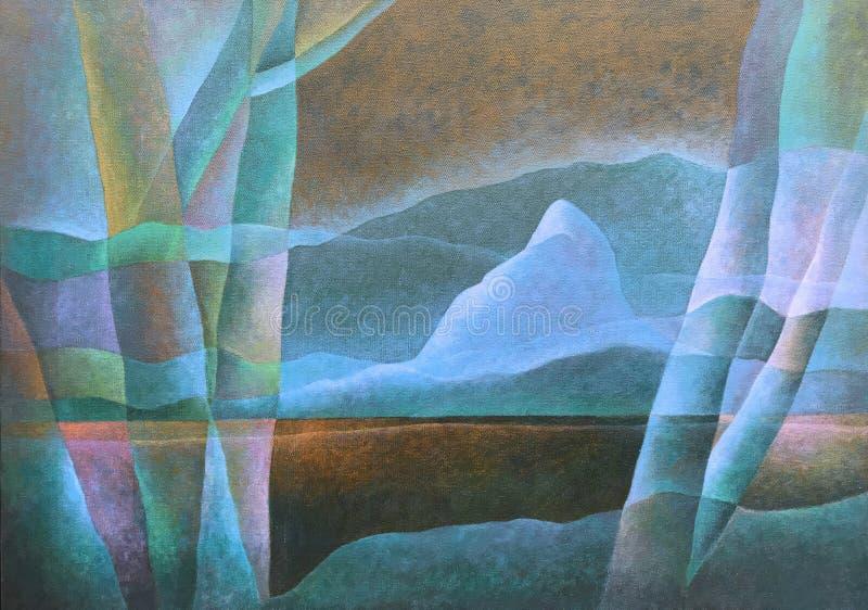 Paesaggio astratto 63, arte digitale da Afonso Farias & Denilson Bedin immagine stock
