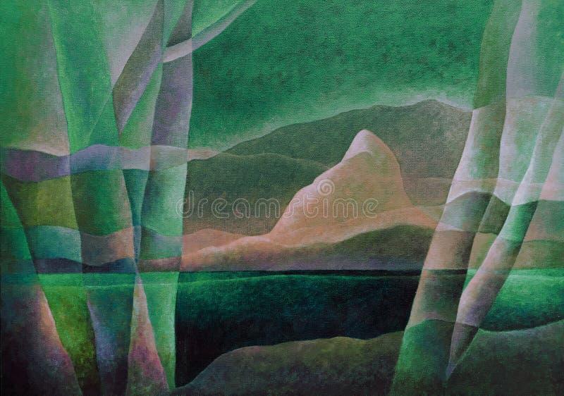 Paesaggio astratto 69, arte digitale da Afonso Farias & Denilson Bedin immagine stock libera da diritti