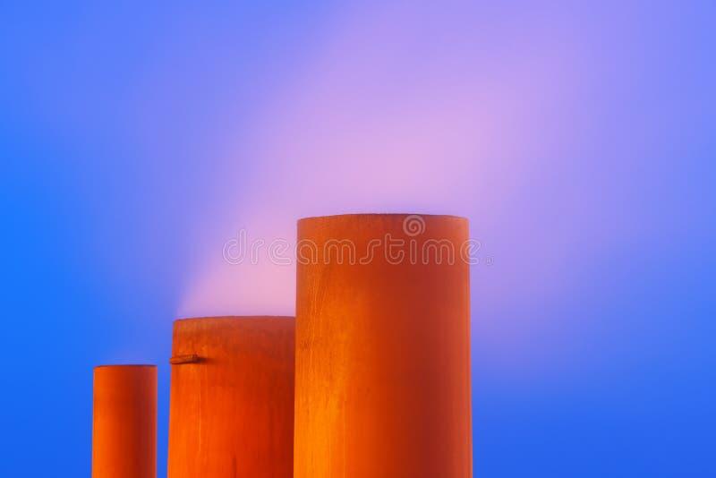 Paesaggio astratto industriale fotografia stock libera da diritti