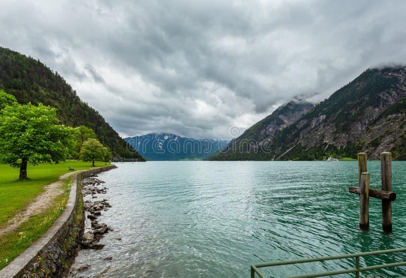 Paesaggio Austria di estate di Achensee immagini stock