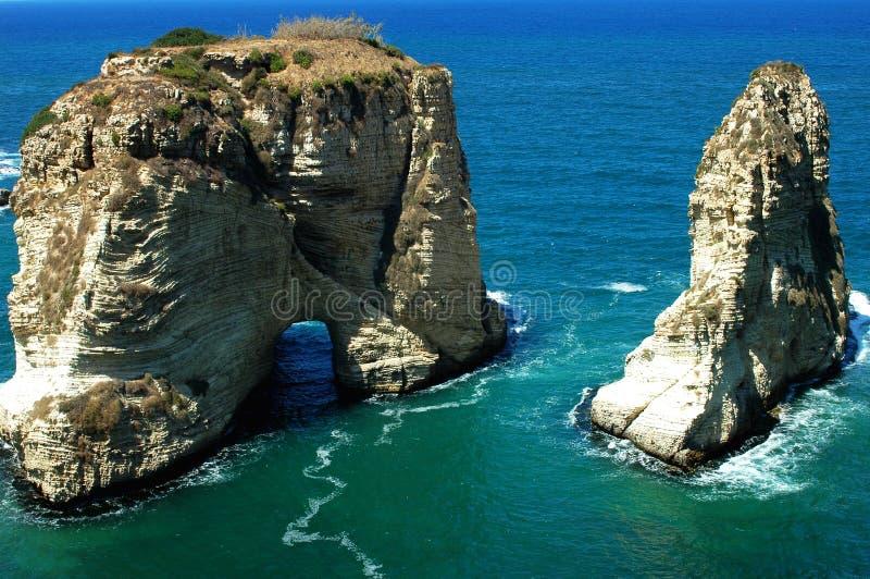 Paesaggio a Beirut Libano immagine stock