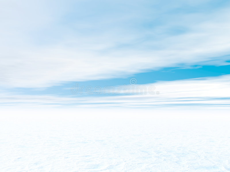 Paesaggio bianco di inverno illustrazione vettoriale