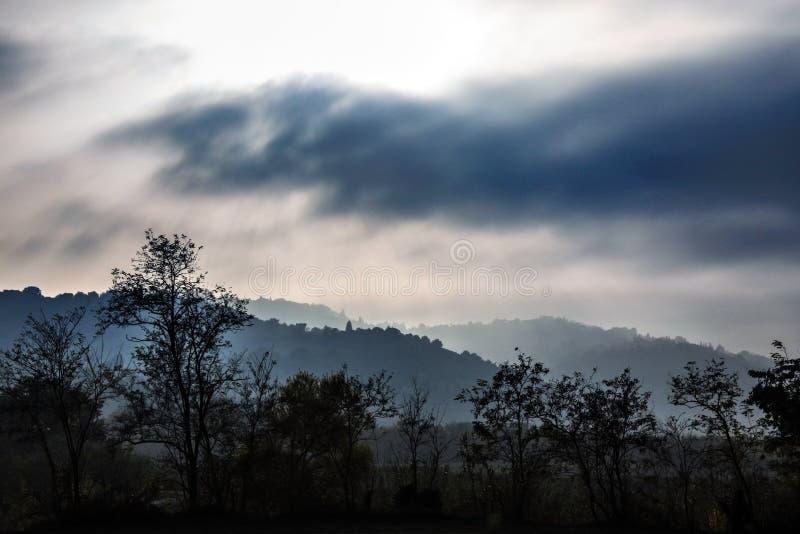 Paesaggio blu di fantasia fotografie stock