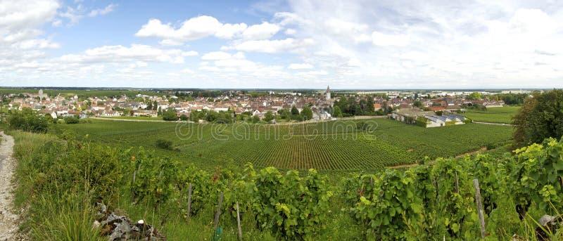 Paesaggio in Borgogna immagine stock libera da diritti