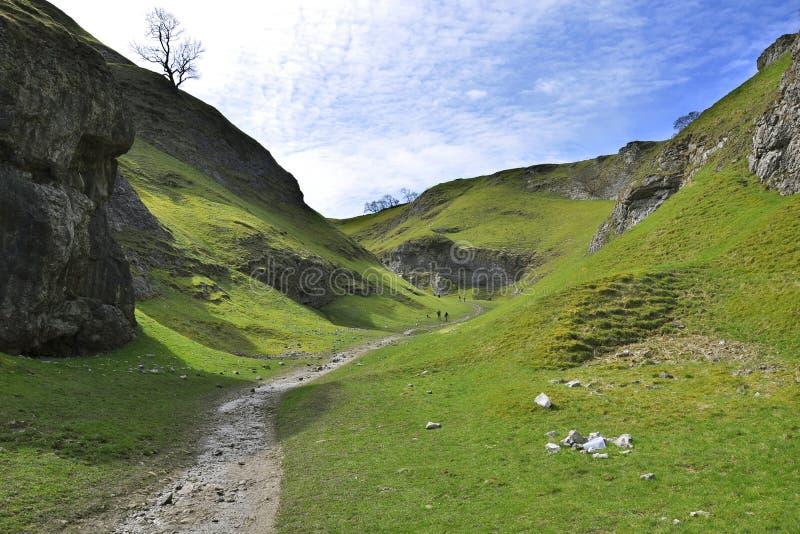 Paesaggio Britannico Della Campagna Con Le Montagne Fotografia Stock Libera da Diritti