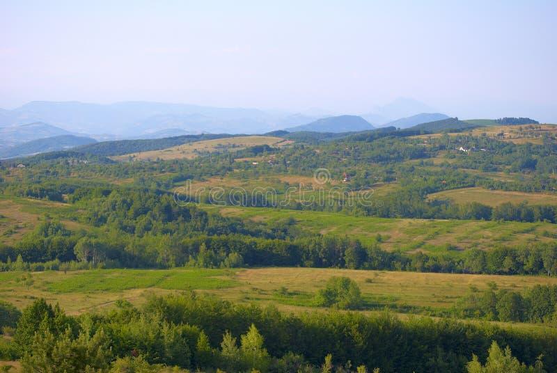 Paesaggio carpatico della montagna   fotografia stock libera da diritti