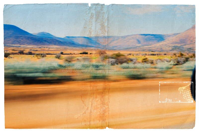 Paesaggio commovente del dessert di Grunge fotografia stock