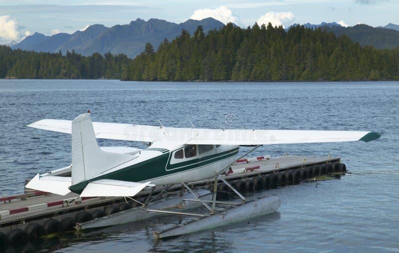 Paesaggio con il hydroplane in Nanaimo Vancouver canada fotografie stock libere da diritti