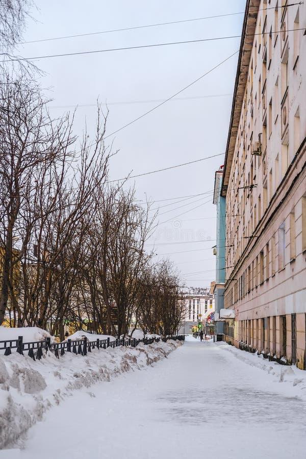 Paesaggio con l'immagine di Murmansk immagini stock
